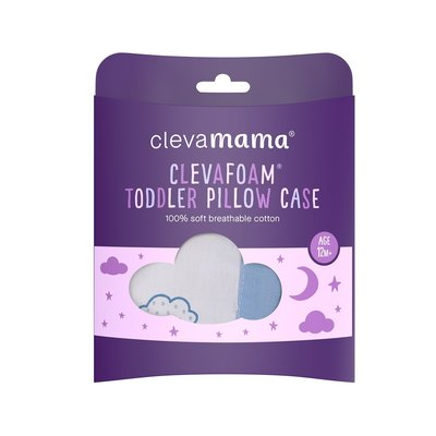 Clevamama Clevafoam Baby Pillow Case Blue