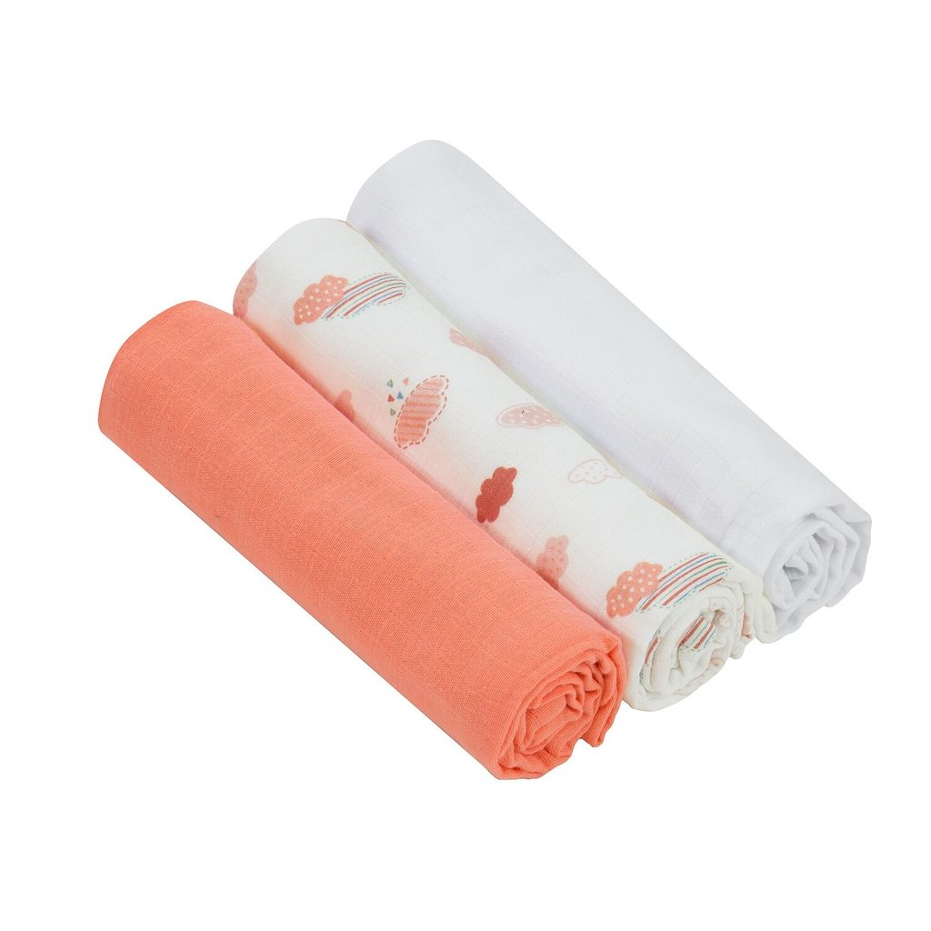 Clevamama Clevamama Bamboo Muslin Cloth Coral