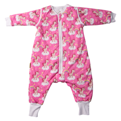 Babyboo Snuggleboo Unicorn and Rainbows Sleep Suit (2.5t)- 6-18mths
