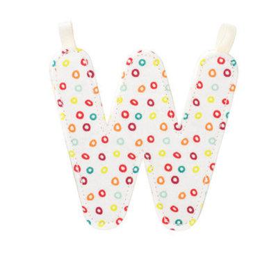 Lilliputiens Lilliputiens Fabric Letter W