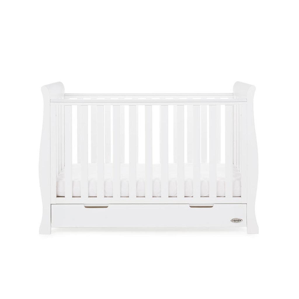 Obaby Obaby - Stamford Sleigh Mini Cot Bed - White