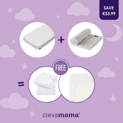 Clevamama Clevafoam Pocket Sprung Mattress Bundle