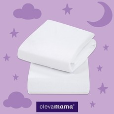 Clevamama Clevamama Fitted Sheets Cotbed White