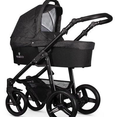 Venicci Venicci Soft Edition Denim Black w Black Chassis