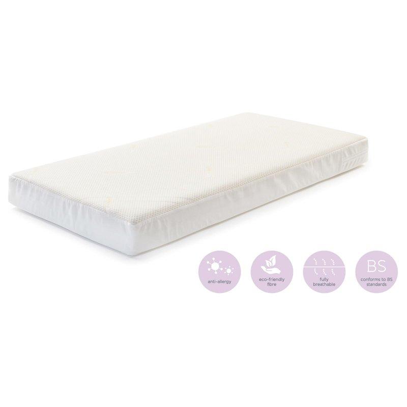 Baby Elegance Baby Elegance Coolmax Pocket Spring  Mattress Cot Bed - 70cm x 140cm