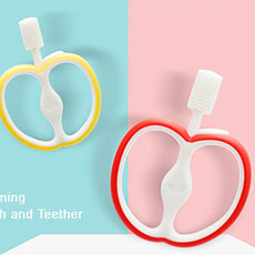 Happy Baby Apple Toothbrush/Teether 4m+