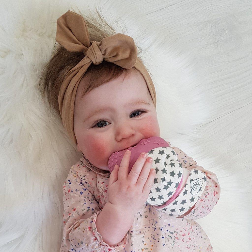 Belo Bunny Belo Teething Mitt Pink