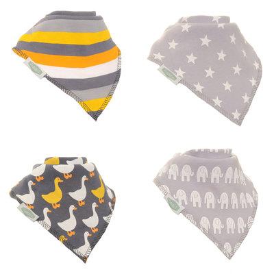 Ziggle Grey bandana bib