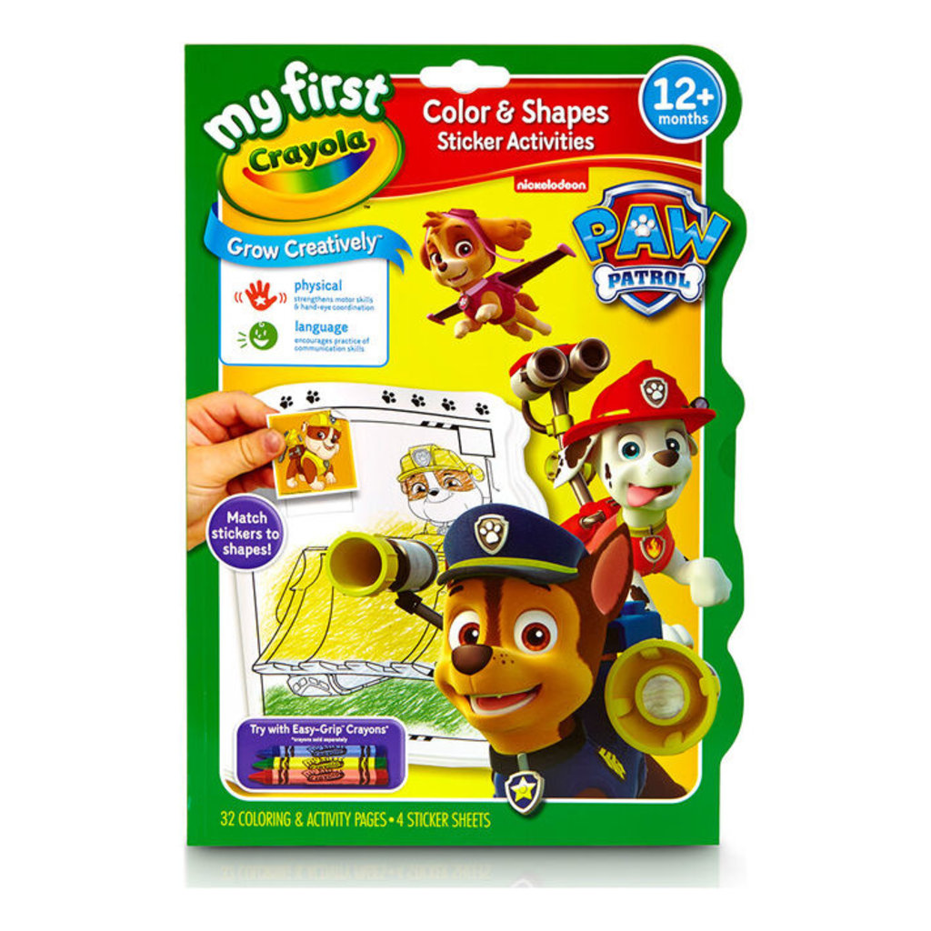 My First Crayola Colour & Shapes - Paw Patrol