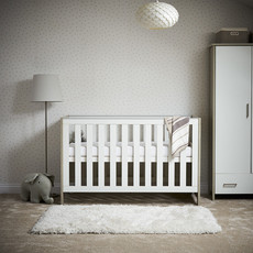 Obaby Obaby Nika Cot Bed – Grey Wash with White