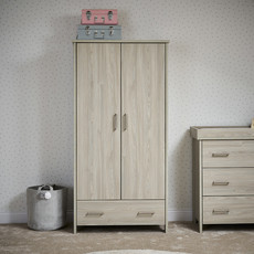 Obaby Obaby Nika Double Wardrobe – Grey Wash