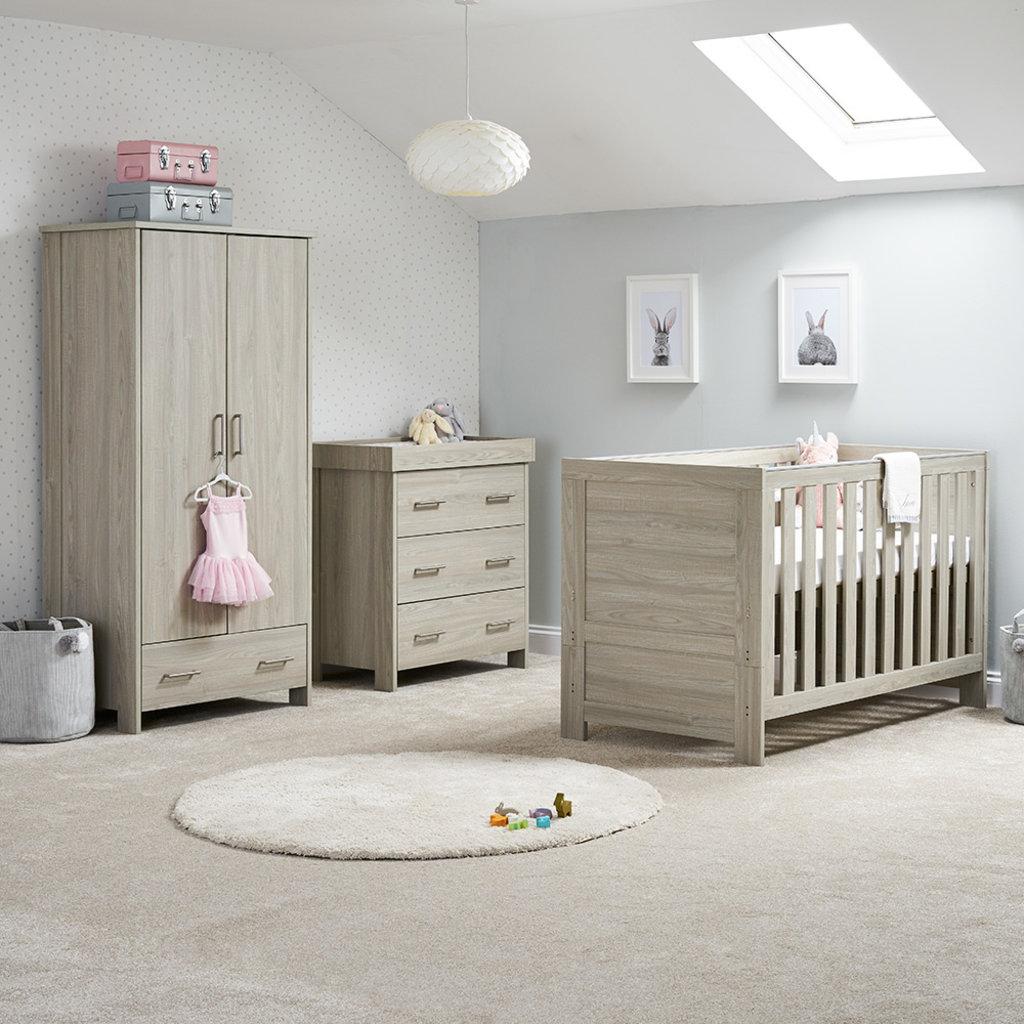 Obaby Obaby Nika 3 Piece Room Set – Grey Wash