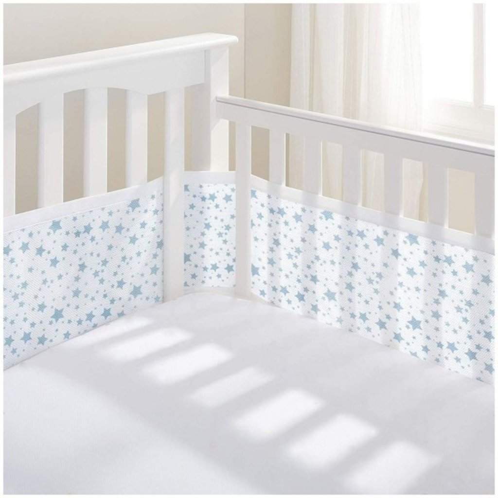 Breathable Mesh Cot Liner Twinkle Blue