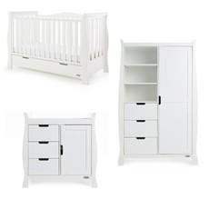 Obaby Obaby Stamford Luxe 3 Piece Room Set - White