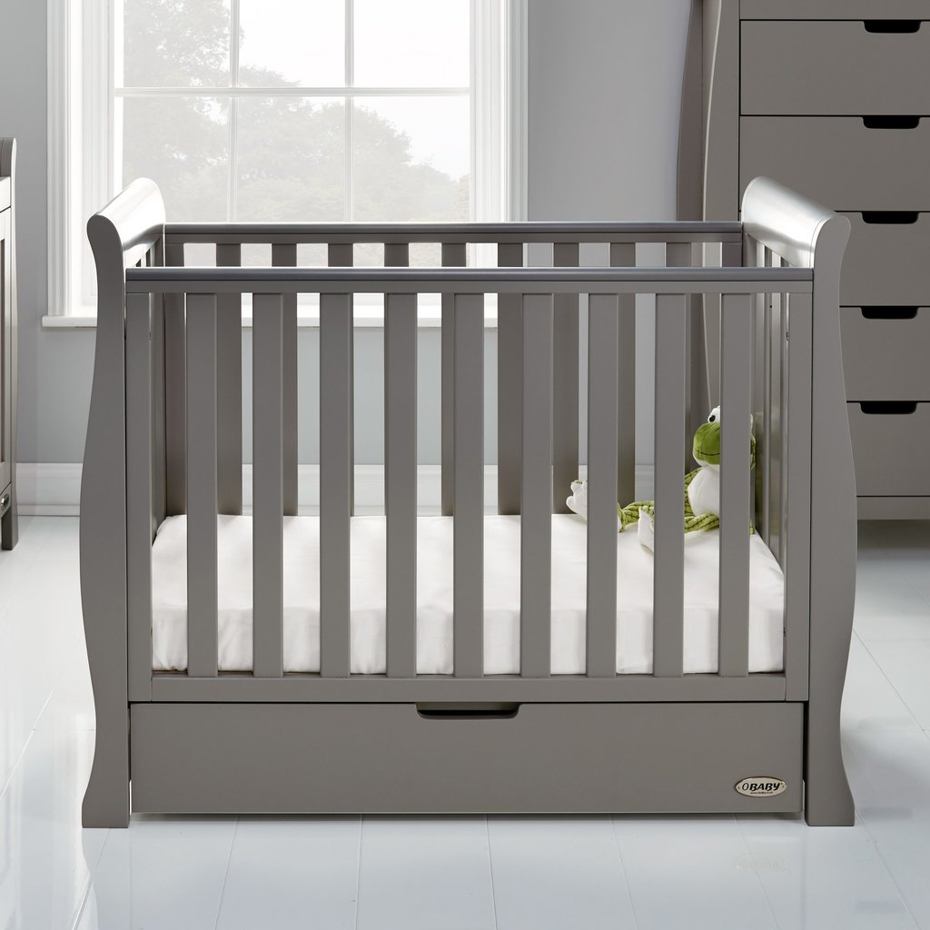 Obaby Obaby Stamford Space Saver Cot - Taupe Grey
