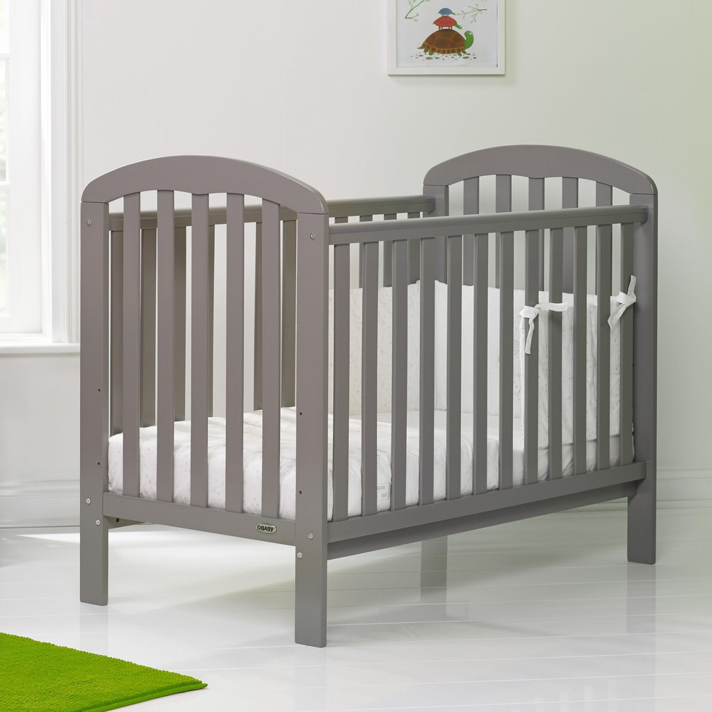 Obaby Obaby Lily Cot - Taupe Grey