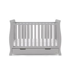Obaby Obaby - Stamford Sleigh Mini Cot Bed - Warm Grey