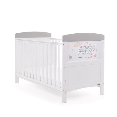 Obaby Obaby Tiny Tatty Teddy Cot Bed – Grey