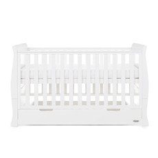 Obaby Obaby Stamford Classic Sleigh Cot Bed – White