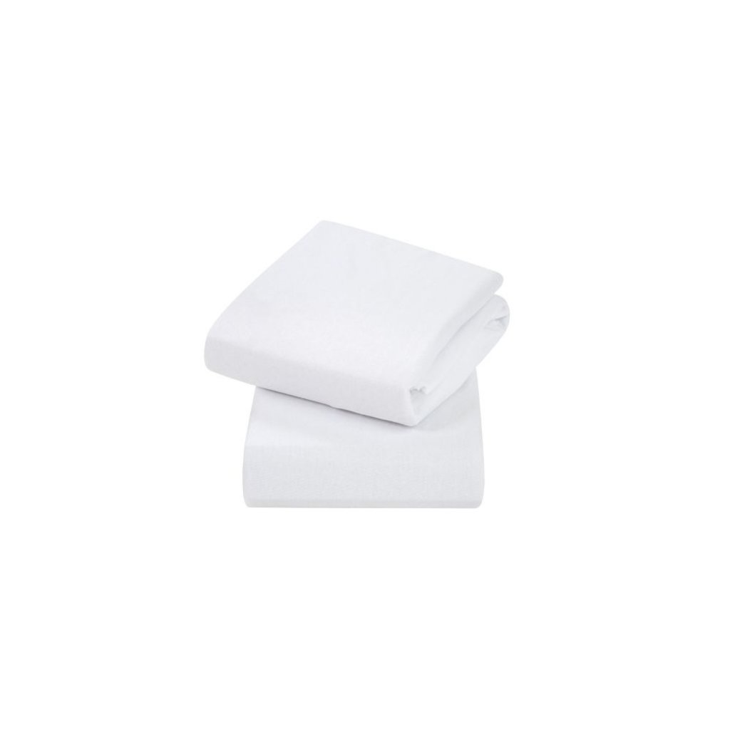 Clevamama Clevamama Crib Fitted Sheets White 2pk
