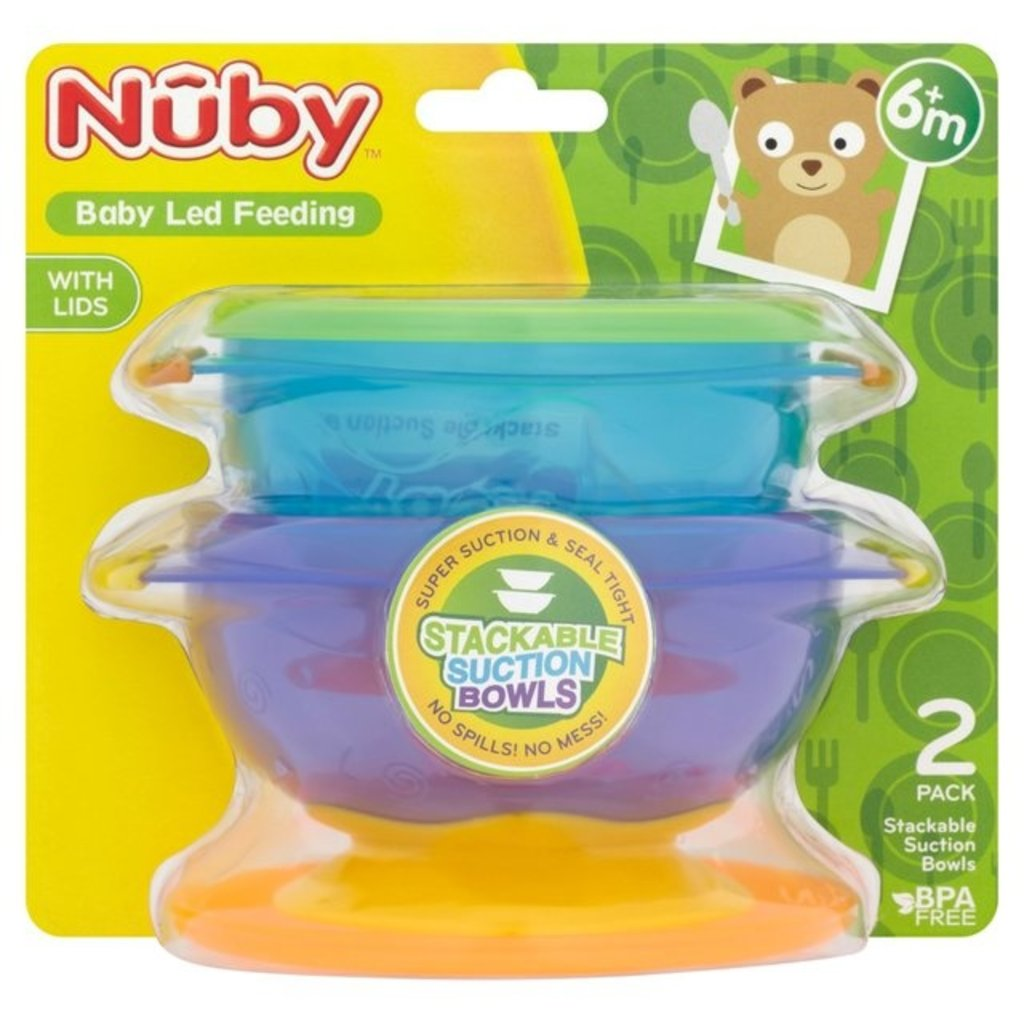 Nuby Nuby Stackable Suction Bowls 2 Pack