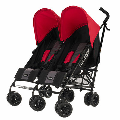 Obaby Obaby - Apollo Black/Grey Twin Stroller – Red Hoods
