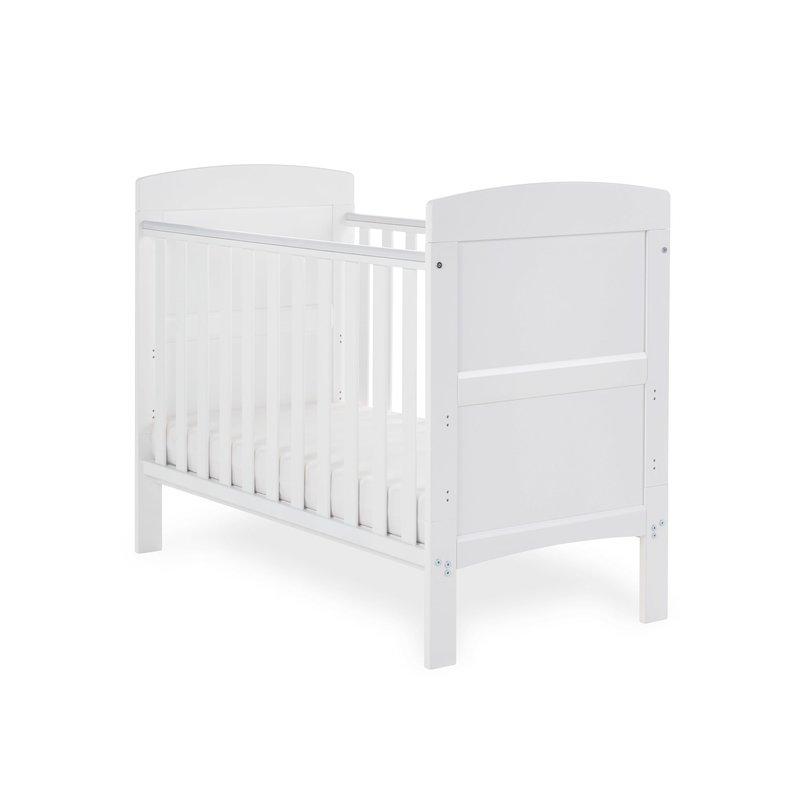 Obaby Obaby Grace Mini Cot Bed – White