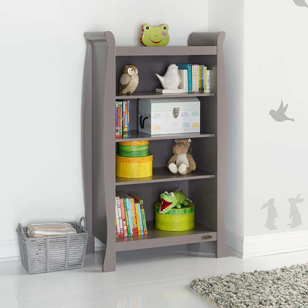 Obaby Obaby - Stamford Sleigh Bookcase – Taupe Grey