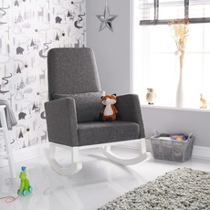 Obaby Obaby - High Back Rocking Chair – White with Grey Cushion