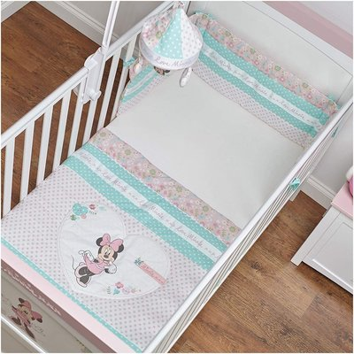 Obaby Obaby - Disney Minnie Mouse Quilt and Bumper Cot Set (Pink)