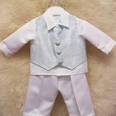 Christening 3 piece suit blue 9/12