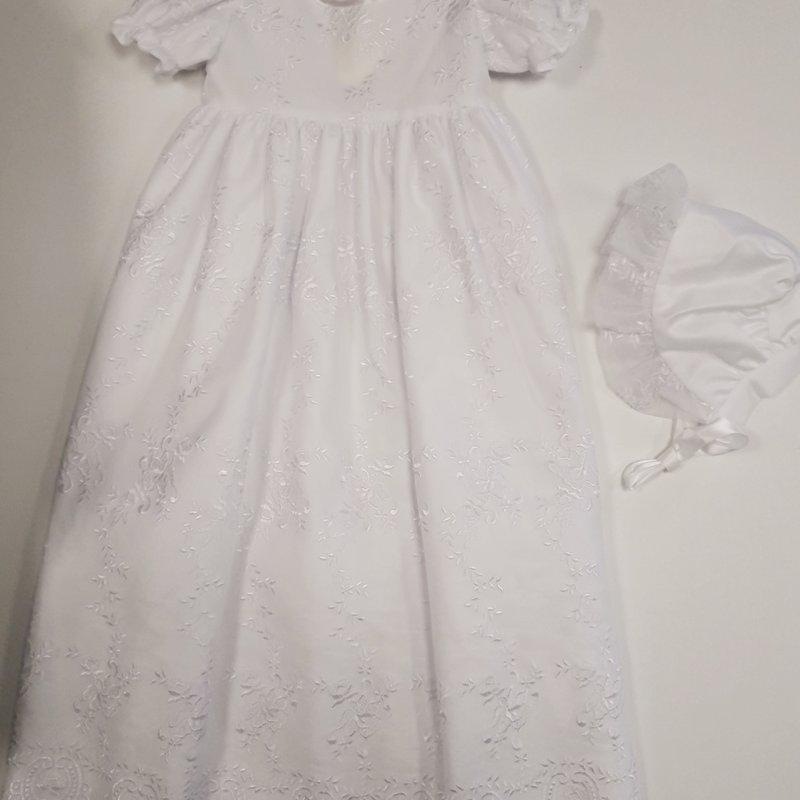 visara Visara Christening Gown 6-12 Rose Bud