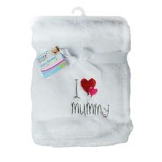 First Steps Super Soft I Love Mummy Fleece Baby Blanket