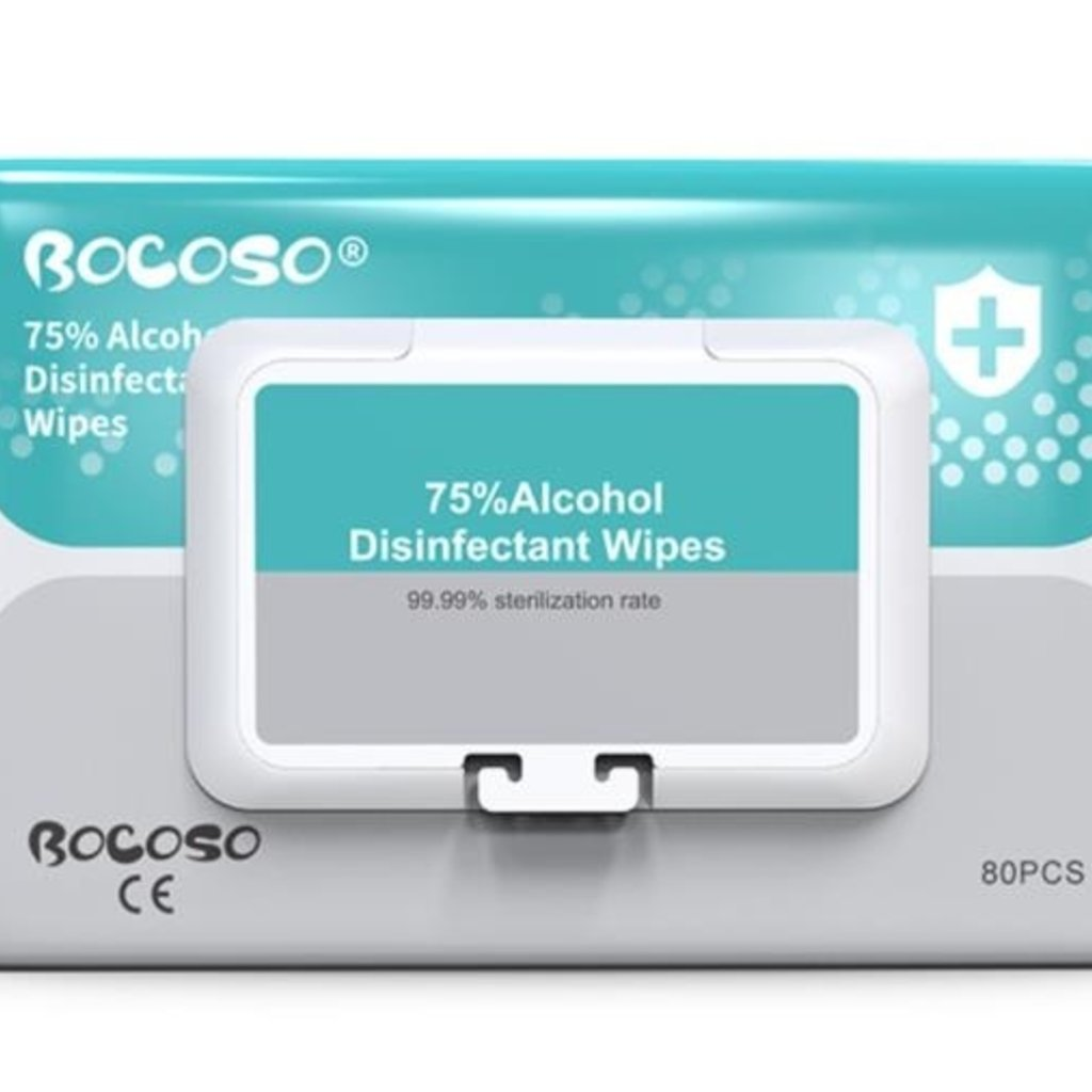 Alcohol Disinfectant Wipes 80 Pack
