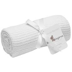 Baby Elegance Baby Elegance Rolled Cellular Blanket White 70x90cm