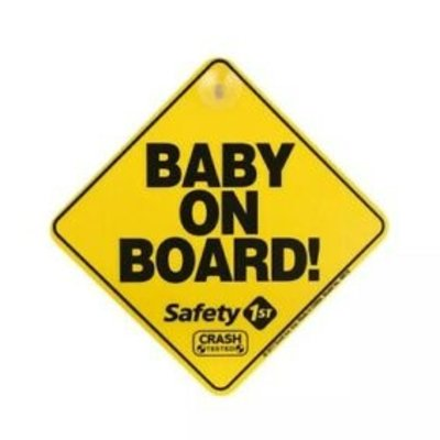 Safety 1st Safety 1st Baby On Board Sign