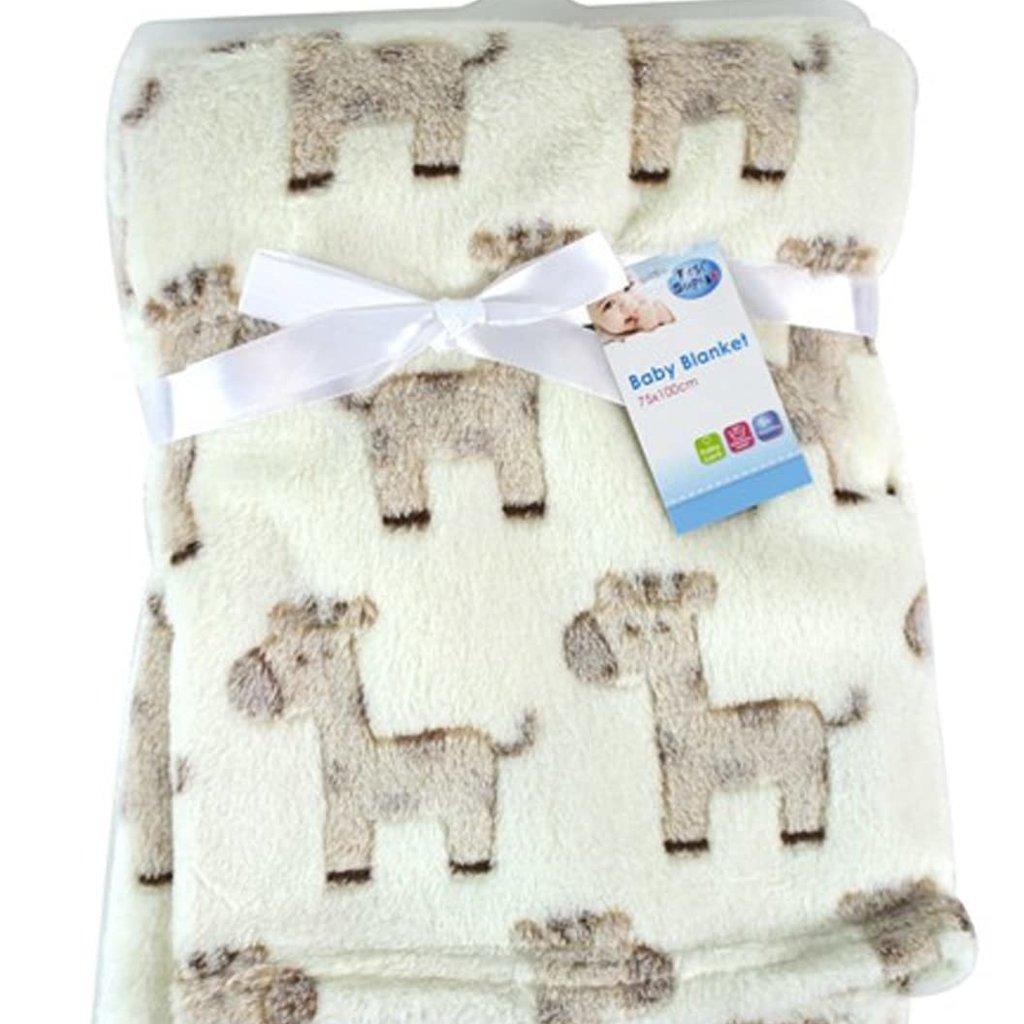 First Steps Super Soft Fleece Baby Blanket- Pink/ Blue/ White