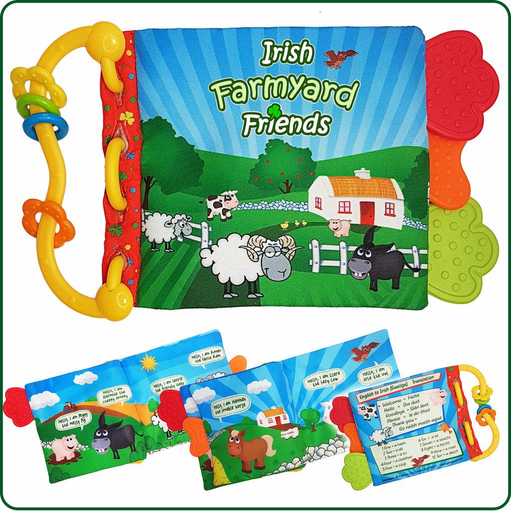 Baby Bow Irish Farmyard Friends Crinkle Book