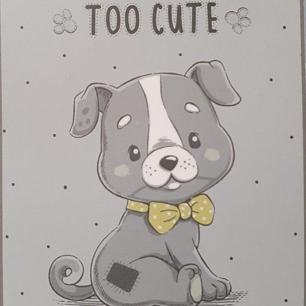 Itsy Bitsy Cute Puppy Blanket - Grey
