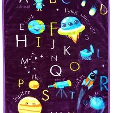 Space Alphabet Baby Blanket