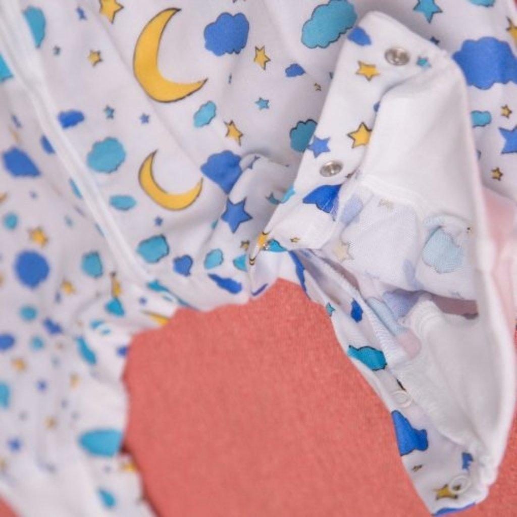 Babyboo Snuggleboo Sleepsuit Moon & Stars - 2-4 yrs