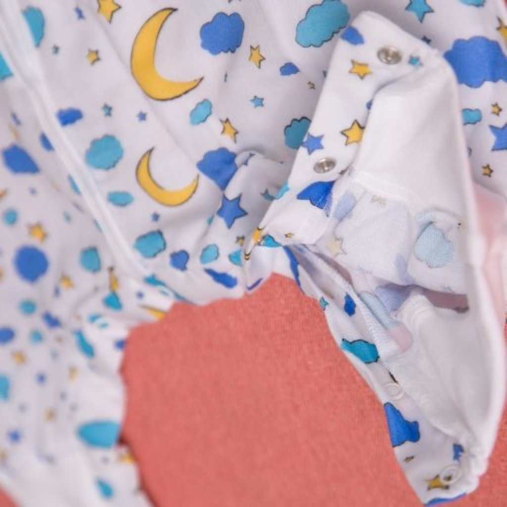 Babyboo Snuggleboo Sleepsuit  Moon & Stars 1-2yrs