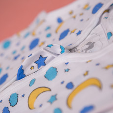 Babyboo Snuggleboo Sleepsuit Moon & Stars - 6-12 mths