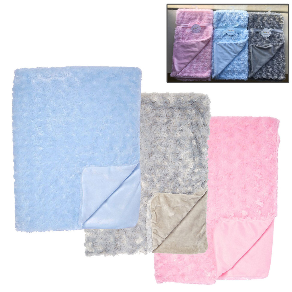Daydream Baby Sherpa Fur Blanket Assorted Colours