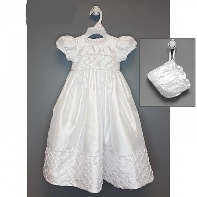 Baby Bow Daydream Christening  Pearl Gown with Bonnett