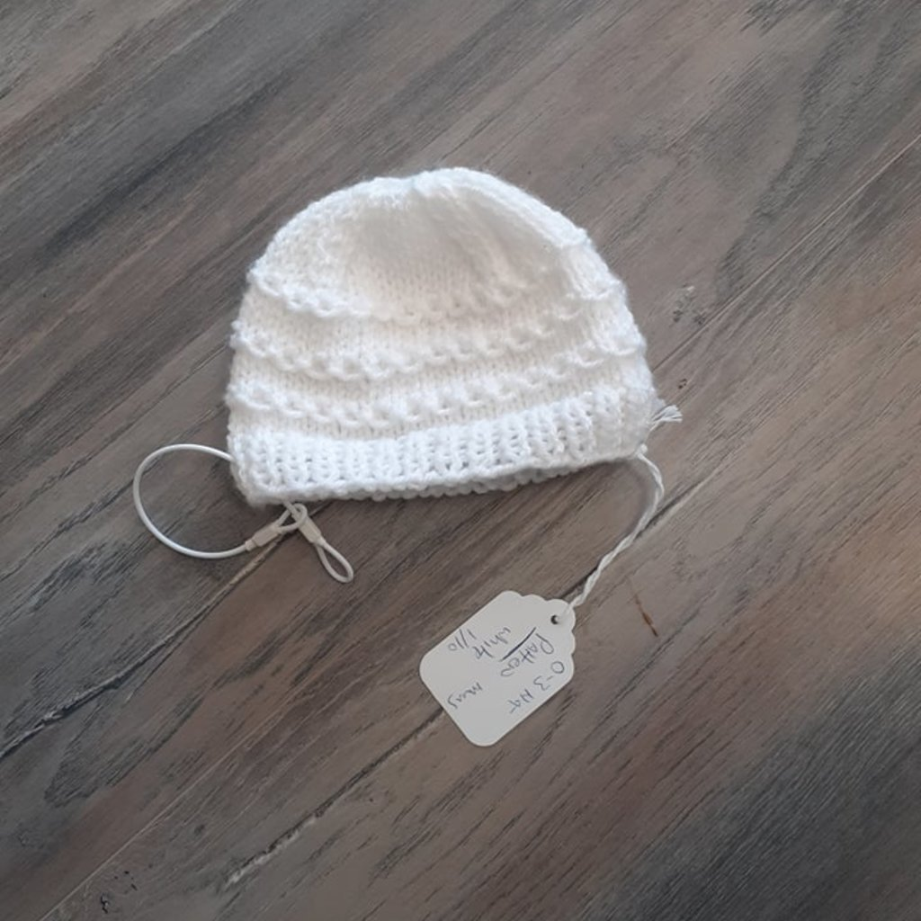Christening Hat 0-3m M Pattern