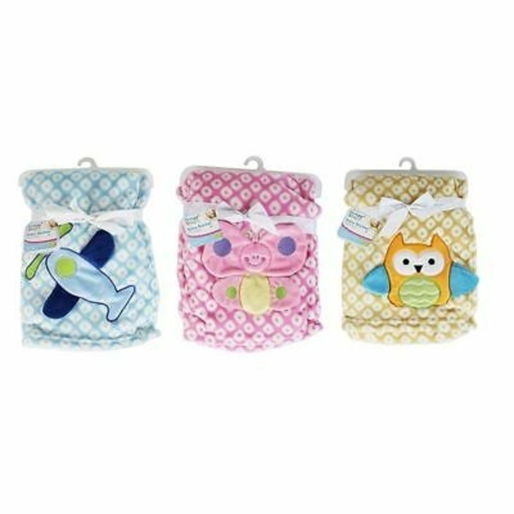 Novelty Baby Blanket - Owl, Plane, Butterfly