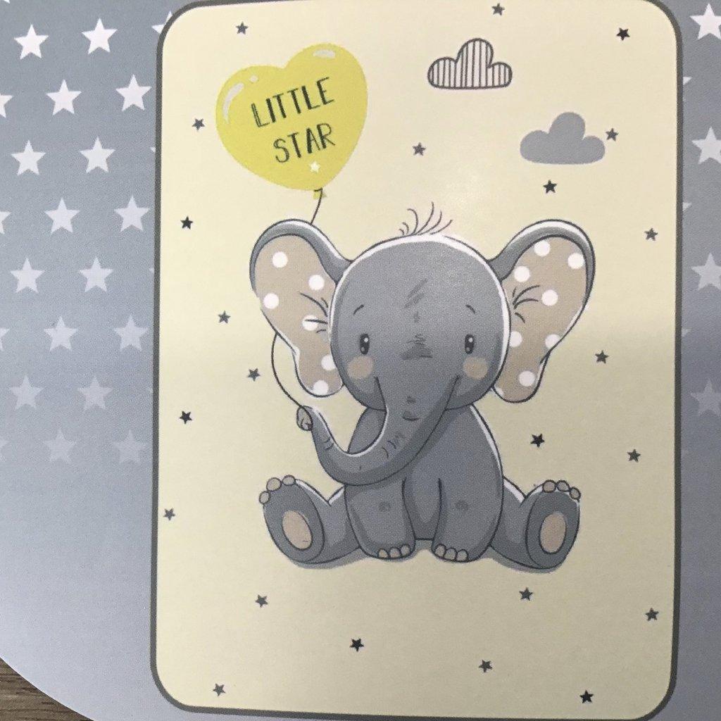 Itsy Bitsy Elephant Baby Blanket - Grey