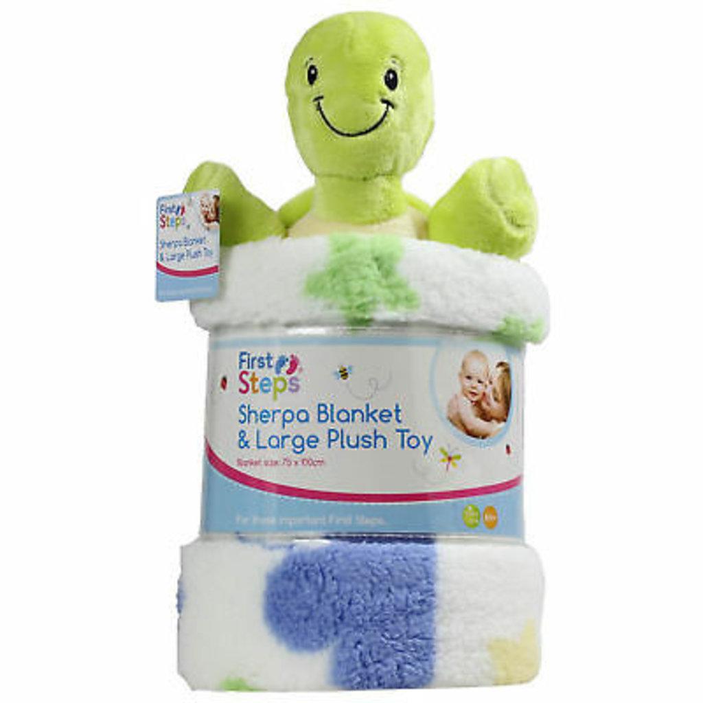 Sherpa Blanket & Large Plush Toy