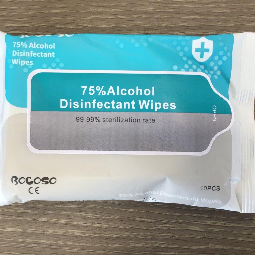 Bocoso Alcohol Wipes 10pcs